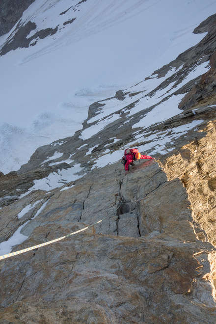 Rich climbing the Grande Dalle