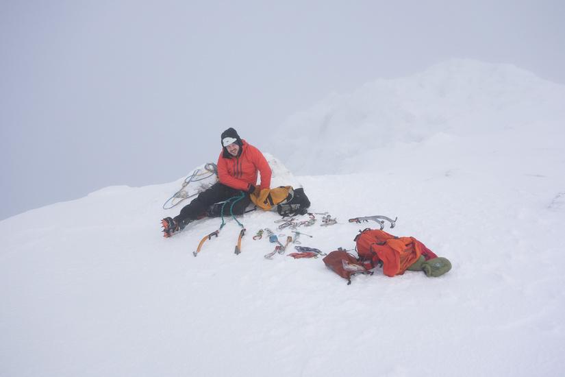 Sorting kit at the top