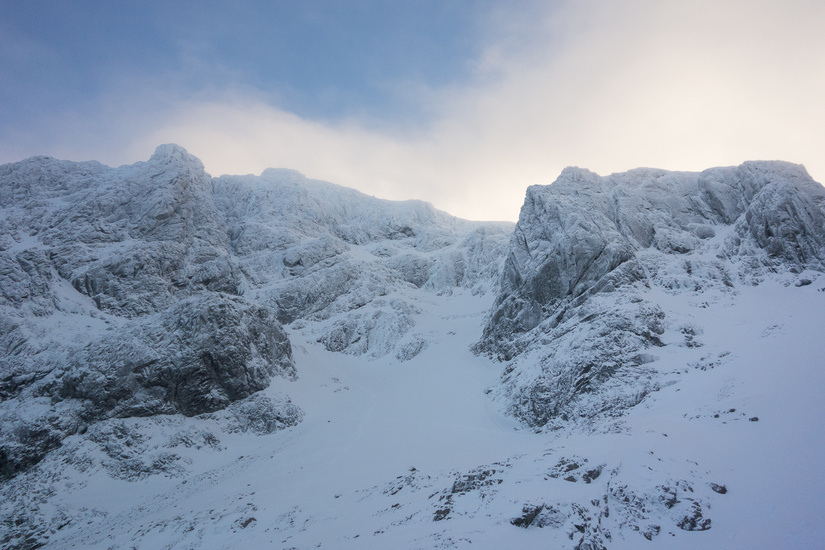 Fantastic conditions in Coire na Ciste