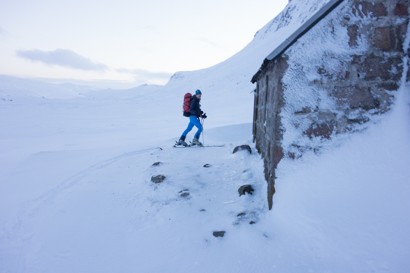 Entering the Corrour Bothy
