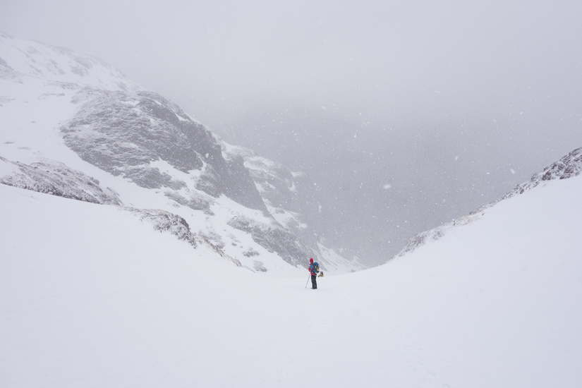 Snowing on the ascent