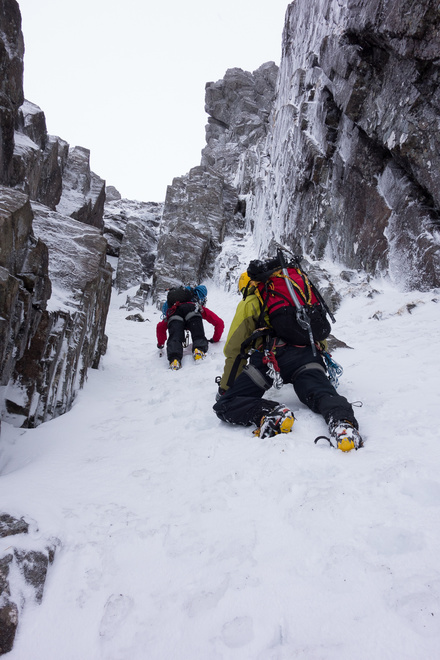 Soloing the easy initial section