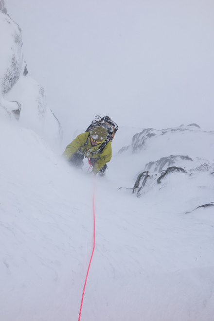 Jon after some spindrift