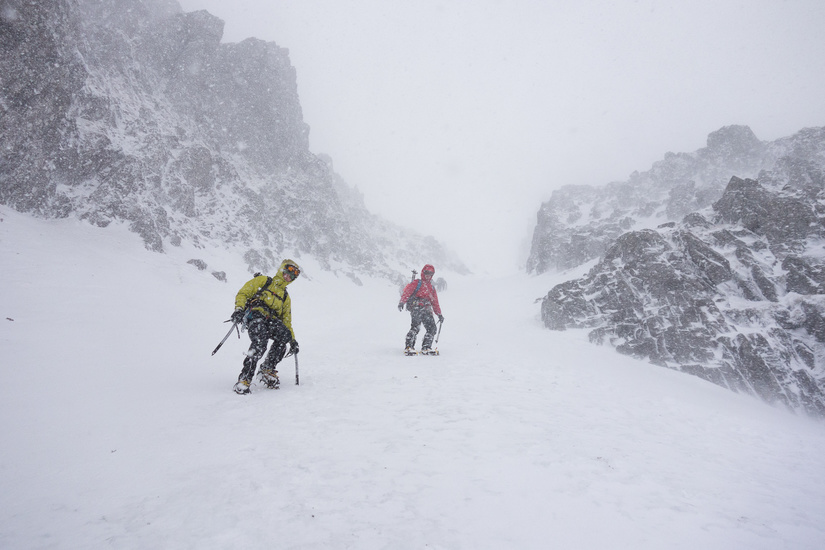 Descending Broad Gully