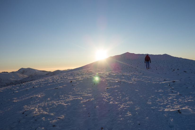 Walking up towards the summit of Carnedd Dafydd