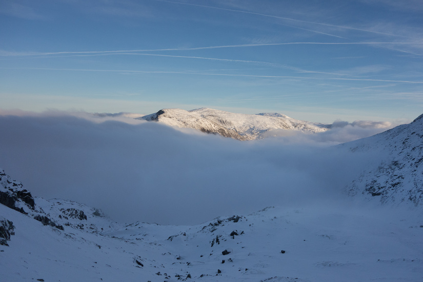 View towards the Carneddau as the inversion formed