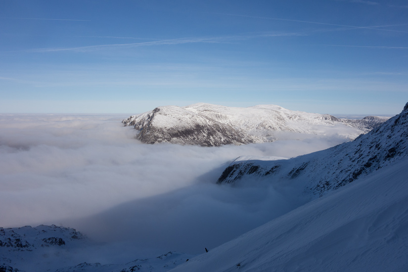 The Carneddau above a brilliant cloud inversion