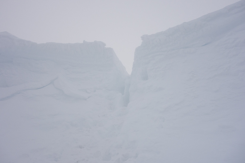 Slot in the number 4 gully cornice