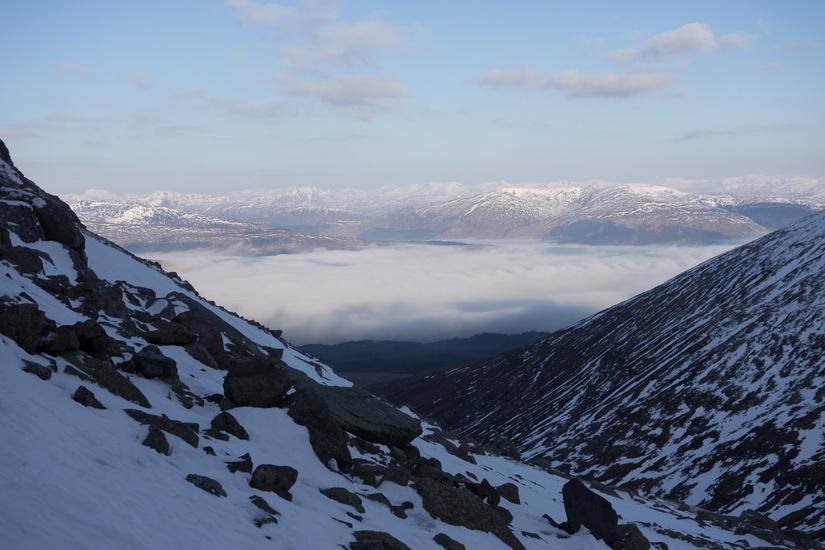 Stunning views north