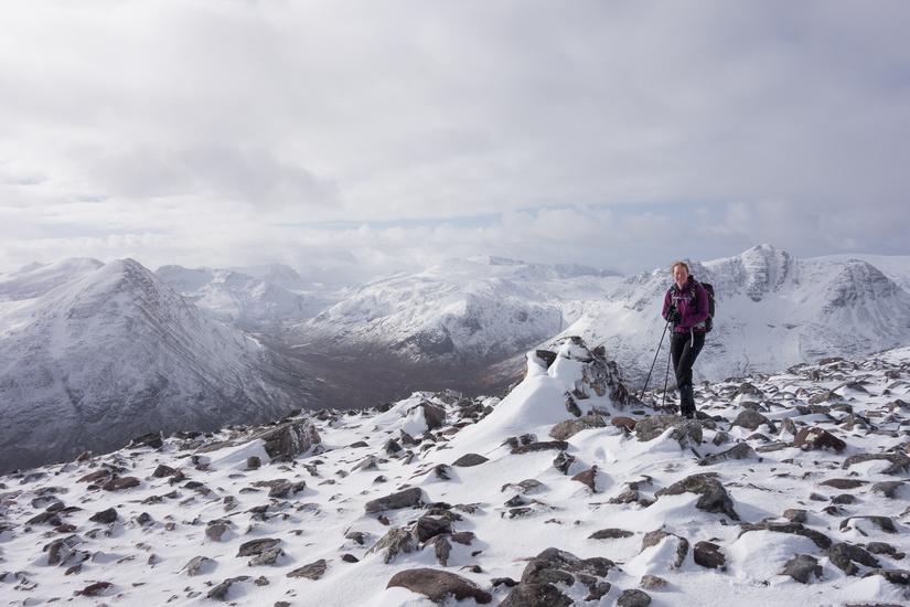 On the summit of Sàil Laith