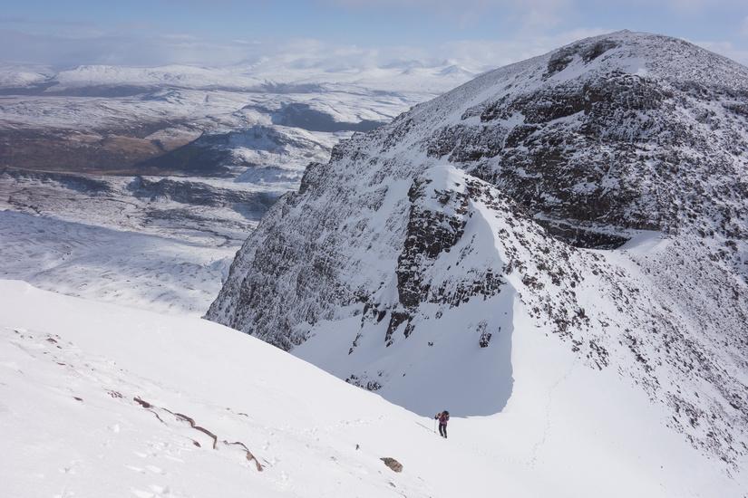 Stunning views and snow ridge