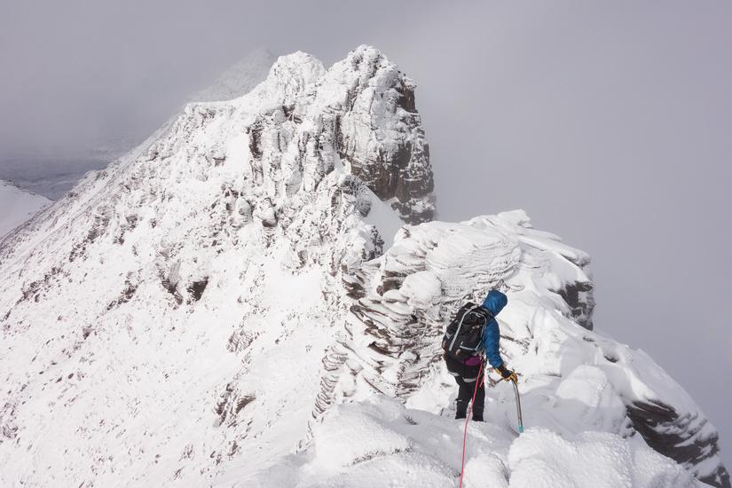 Fantastic scrambling along the pinnacles