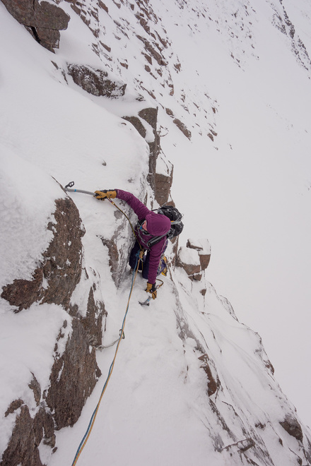 Becky post crux on the Haston Line