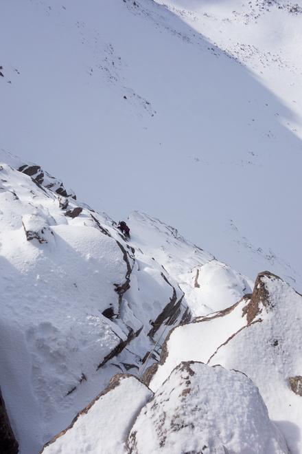 Sun on a winter climb!