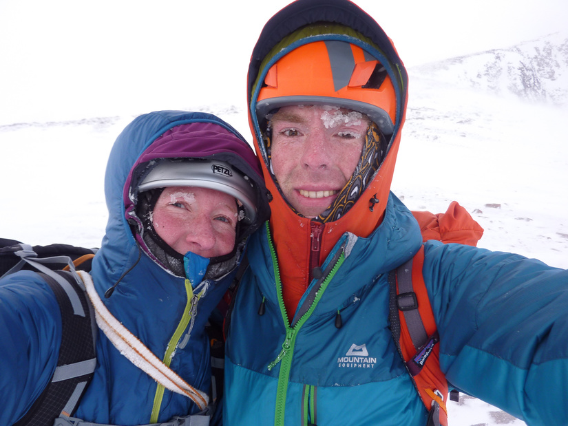 Cold descent in belay jackets