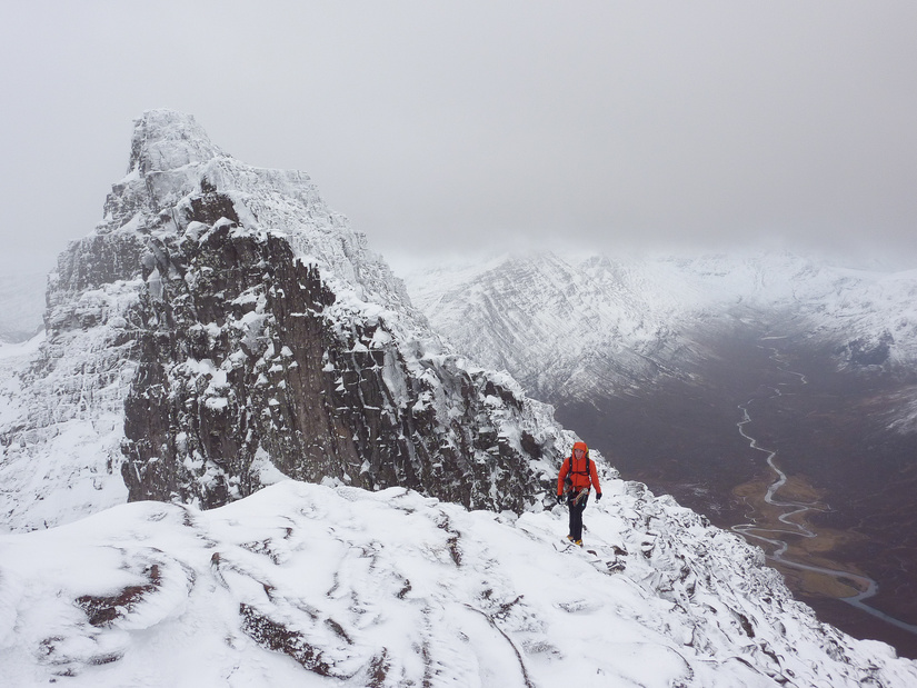 Me on the ascent to the summit of An Teallach