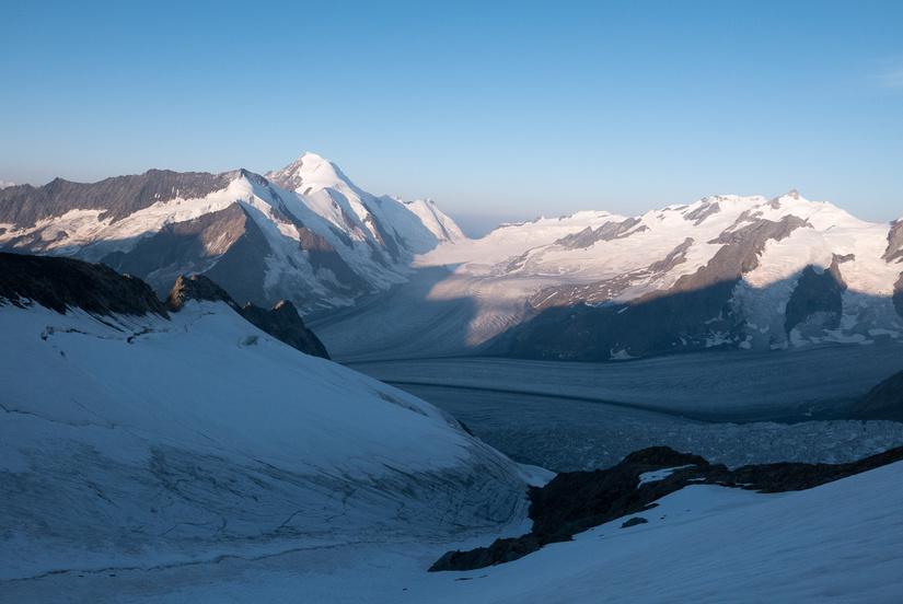 Dawn light on the Aletschhorn