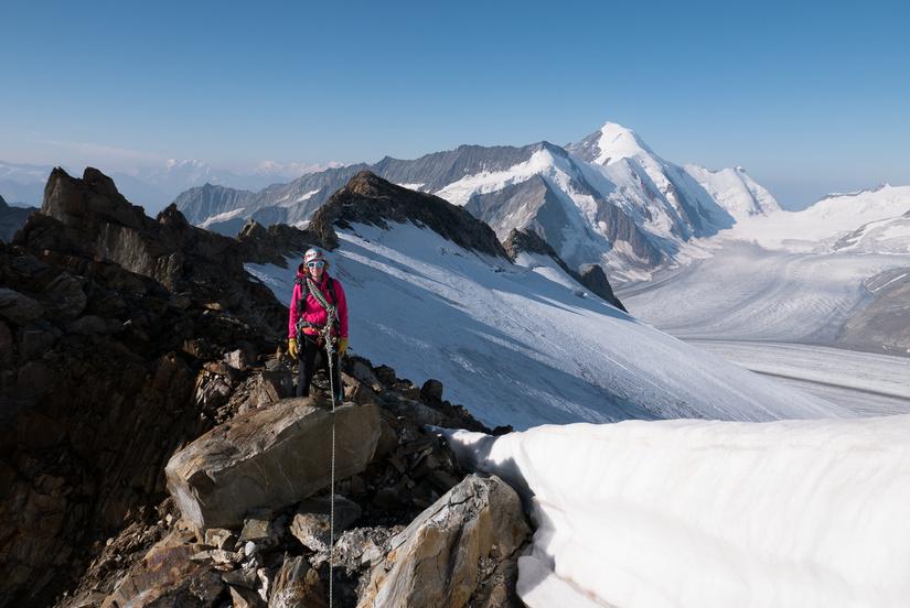 Stunning views of the Aletschhorn