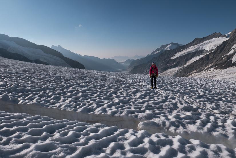 Approaching the Jungfraujoch