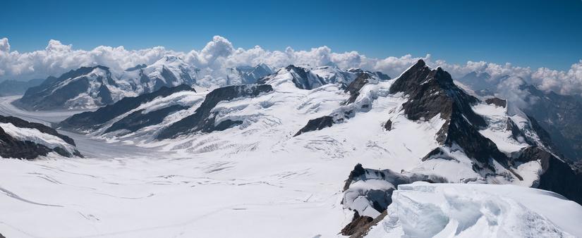 Aletschhorn and Jungfrau