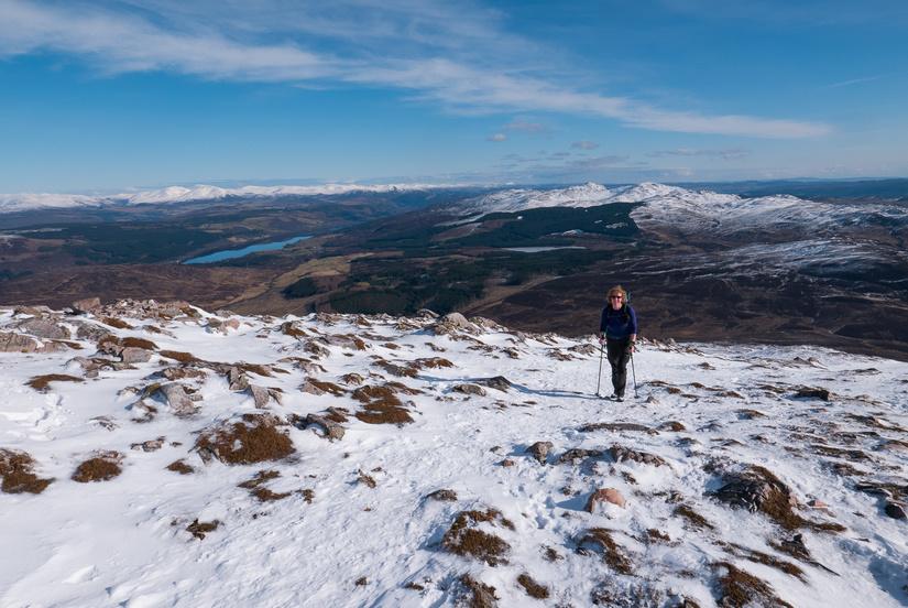 Beautiful views towards the Cairngorms