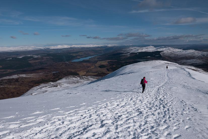 Stunning views towards the Cairngorms