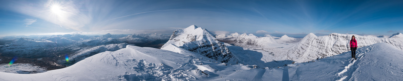 Panorama from the first top