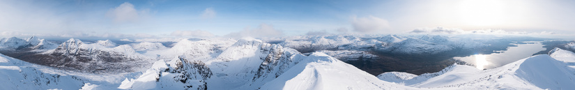 Stunning panorama from Mullach an Rathain