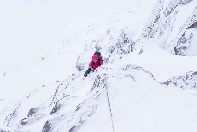 Enjoyable climbing on the second pitch