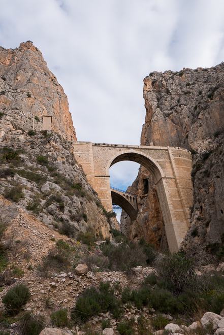 Looking up the Mascarat gorge