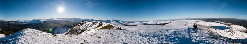 Stunning panorama from the summit