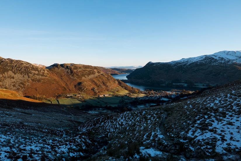 Beautiful view along Ullswater