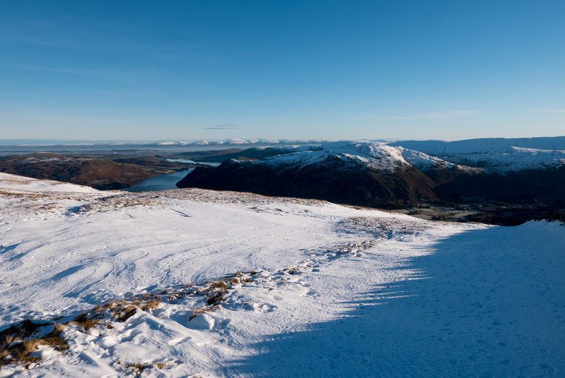 Amazing view east over Ullswater